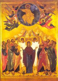 Christ Ascension icon - full 2