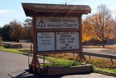 Jesus Is King Valley Sign