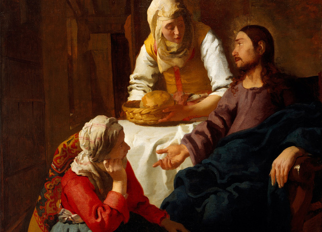Christ in the House of Mary and Martha - Vermeer