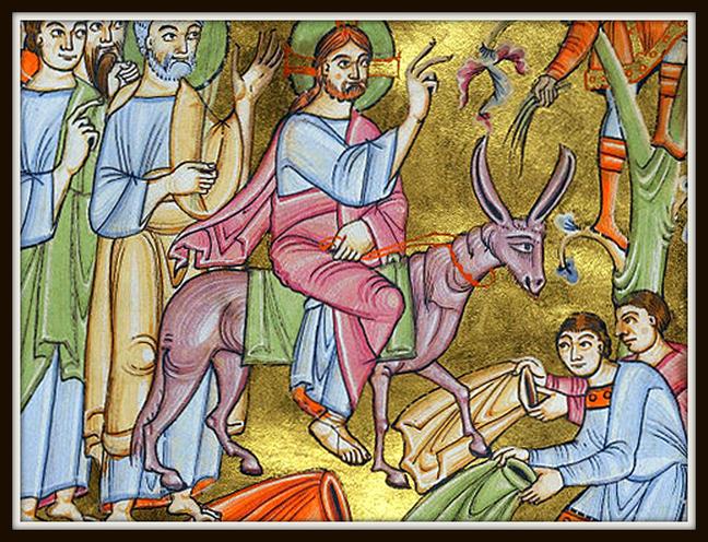 Entry into Jerusalem manuscript illumination