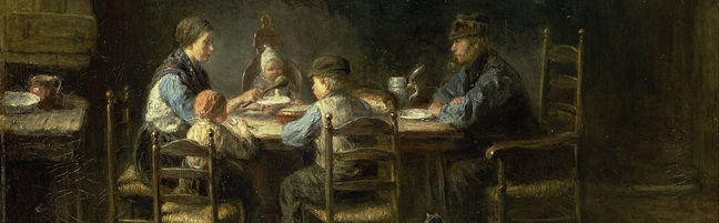 Jozef Israels - Peasant family at the table