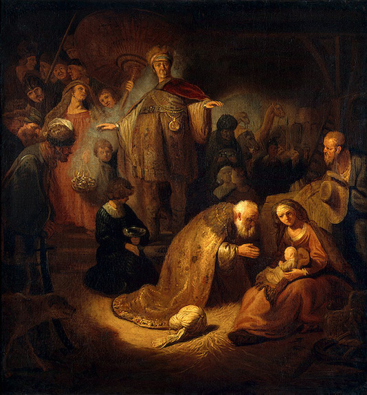 Adoration of the Magi-Rembrandt