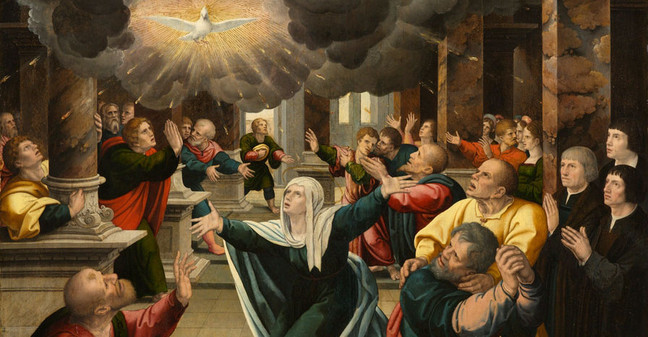 The Pentecost - Follower of Bernard van Orley c. 1520 - Copy