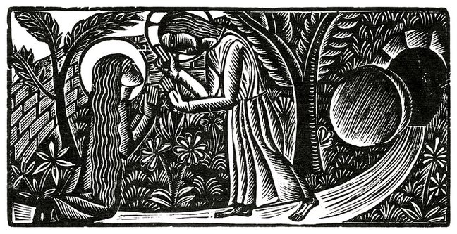 easter woodcut
