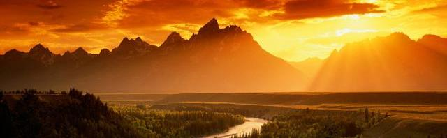tetons and snake river color
